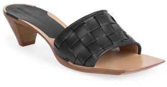 Bottega Veneta Bloc Woven Leather Mules