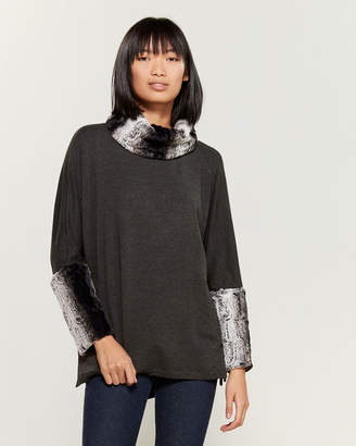 Tess Elliott Studio Cowl Neck Fleece Tunic