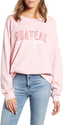 Wildfox Couture Chateau Beau Cotton Sweatshirt