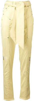 Talbot Runhof belted tapered trousers