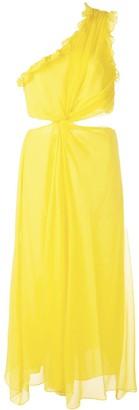 Cinq à Sept Corinne one shoulder dress