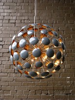 The Well Appointed House Bilbao Gold Leaf and Gray Gloss Chandelier