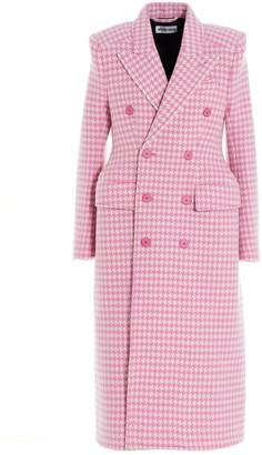 Balenciaga Double-Breasted Houndstooth Coat