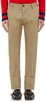 Gucci Men's Cuffed Cotton Chino Trousers-TAN