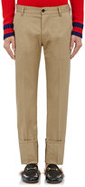 Gucci Men's Cuffed Cotton Chino Trousers