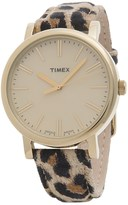 Timex Heritage Cheetah Suede Watch - Suede Strap (For Women)