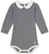Petit Bateau Baby girls milleraies striped bodysuit