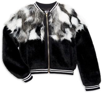 Mia New York Girl's Mixed Faux Fur Jacket