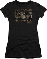 2Bhip Labyrinth Movie Say Your Right Words Juniors Sheer T-Shirt Tee