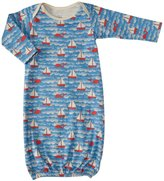 Winter Water Factory Sailboats Baby Gown (Baby) - Orange and Blue-NB