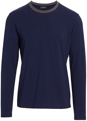 Saks Fifth Avenue COLLECTION Contrast Collar Tee