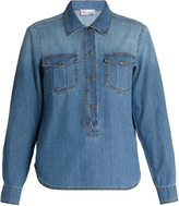 RED Valentino Patch-pocket denim shirt