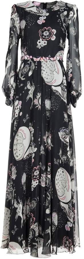 Giamba Printed Maxi Dress