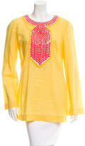 Tory Burch Embellished Colorblock Tunic