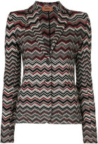 Missoni zig zag knitted jacket