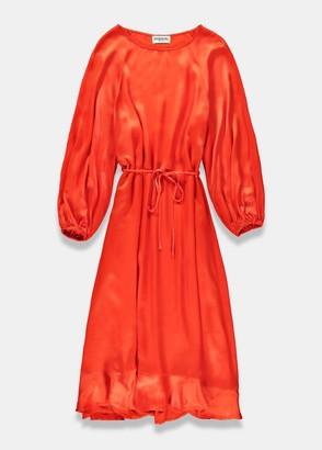 Essentiel Antwerp - Teveland orange midi dress - UK8   viscose   orange - Orange/Orange