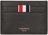 Thom Browne Black Leather Card Holder