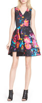 Milly Rosette Fit & Flare Dress