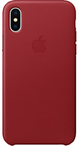Apple Leather Case for iPhone X, PRODUCT (RED)