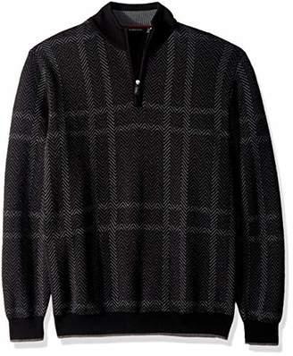 Bugatchi Men's Extra Fine Merino Wool Long Sleeve Sweater