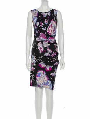 Emilio Pucci Silk Knee-Length Dress Black