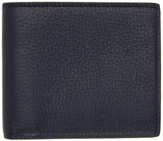 Smythson Navy Burlington 6 Card Wallet