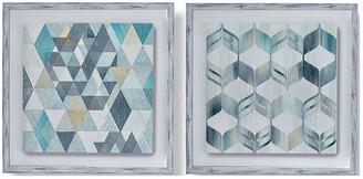 Graham & Brown Set Of 2 Nostalgic Geos Framed Canvas
