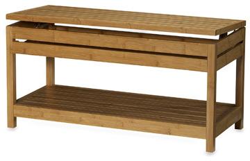 Bed Bath & Beyond Bamboo Storage Bench