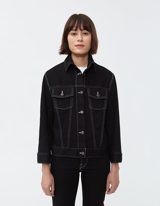 Jeanerica Women's Classic Denim Jacket in Black Rinse, Size Extra Small