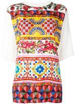 Dolce & Gabbana Mambo print top - women - Silk - 42