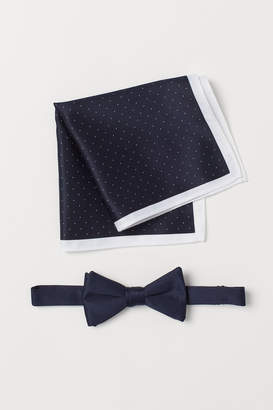 H&M Bow Tie and Handkerchief - Blue