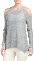 Juniors Cold Shoulder Pullover Sweater