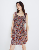 Madewell x Karen Walker Silk Floral Rosalie Ruffled Dress