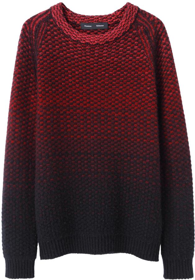 Proenza Schouler textured ombre pullover
