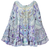 Camilla The Blue Market Off Shoulder Dress