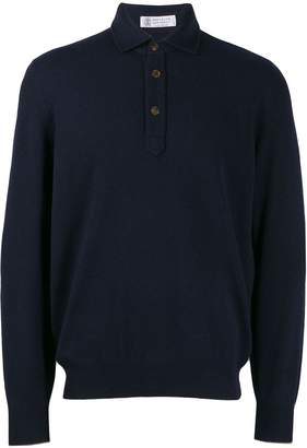 Brunello Cucinelli buttoned collar sweater