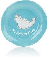 "Alex Marshall Studios My Birthday Plate""-BLUE, WHITE"