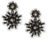 Oscar de la Renta Crystal Firework Drop Earrings