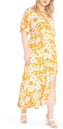 ELOQUII Dolman Sleeve Maxi Dress