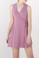Double Zero Mauve Wrap Dress