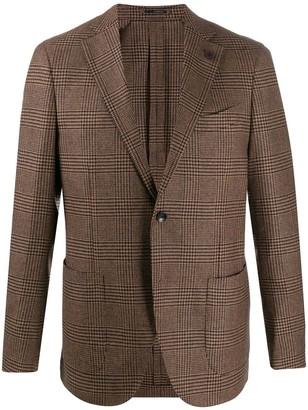 Lardini Plaid Wool Blazer