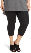 Lysse Plus Size Women's Control Top Capri Leggings