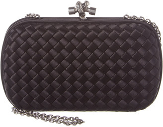 Bottega Veneta Impero Intrecciato Leather Knot Clutch