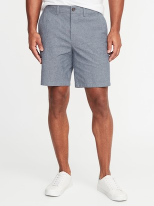Old Navy Ultimate Slim Chambray Shorts for Men - 8-inch inseam