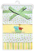 SpaSilk Noah's Ark Flannel Receiving Blanket (4-Pack)