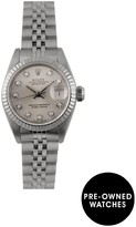 Rolex Pre-Owned Datejust Originbal Silver Diamond Dial Stainless Steel Ladies Watch Ref 69174