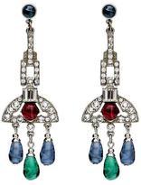 Ben-Amun Velvet Glamour Chandelier Drop Post Earrings
