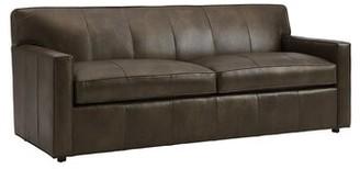 "Lexington Kitano 83"" Wide Genuine Leather Square Arm Sofa"