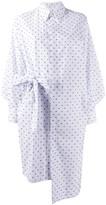 Henrik Vibskov Mermaid belted polka-dot shirt dress