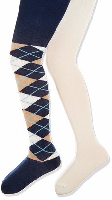 Playshoes Girl's Karo und Uni mit Komfortbund Tights